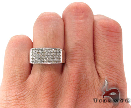 Silver Diamond Ring Metal