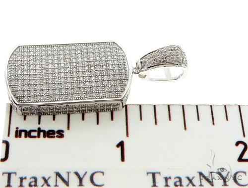 Silver Dog Tag Pendant 56996 Metal
