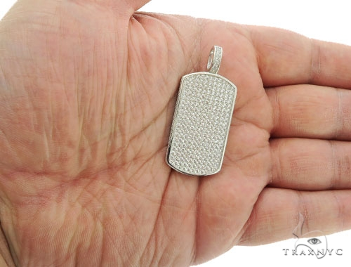 Silver Dog Tag Pendant 57011 Metal