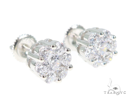 Silver Earrings 49861 Metal