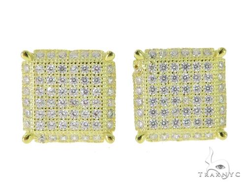 Silver Earrings 49891 Metal