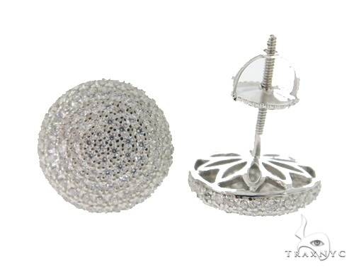 Silver Earrings 49893 Metal