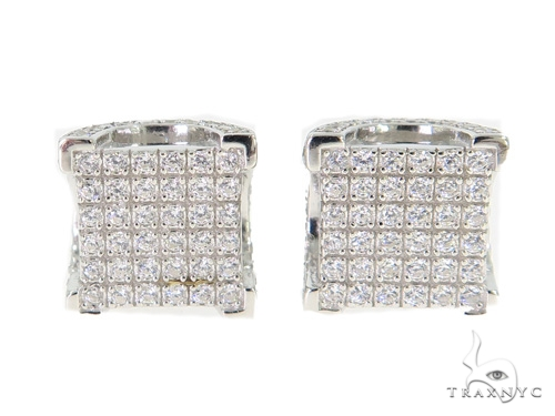Silver Earrings 49896 Metal