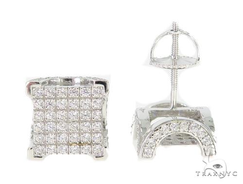 Silver Earrings 49896 Metal