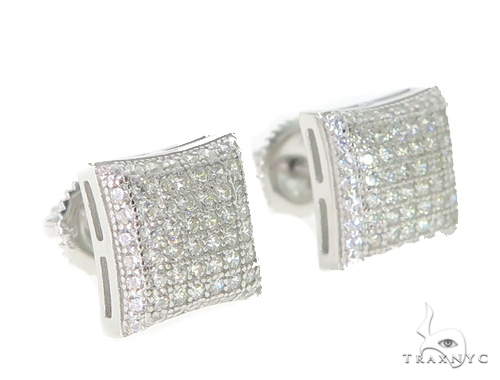 Silver Earrings 49898 Metal
