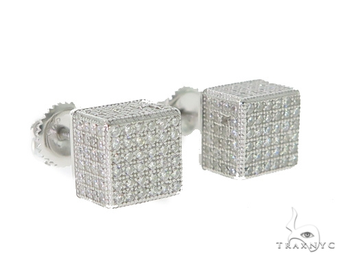 Silver Earrings 49904 Metal