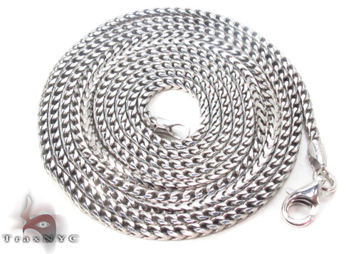 Silver Franco Chain 36 Inches, 2mm, 14.8Grams Silver