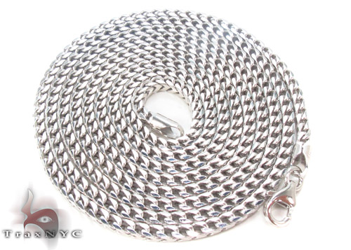 Silver Franco Chain 36 Inches, 3mm, 25.2Grams Silver
