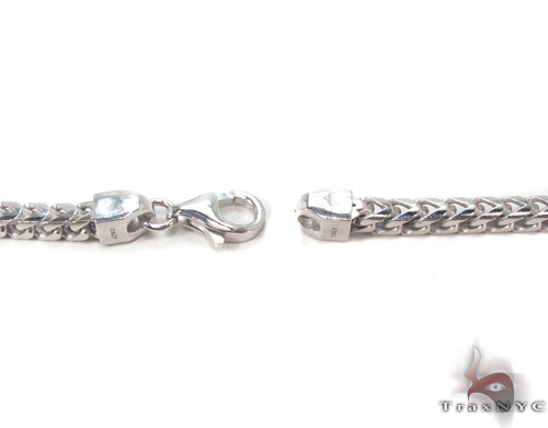 Silver Franco Chain 30 Inches, 4mm, 53.2 Grams Silver