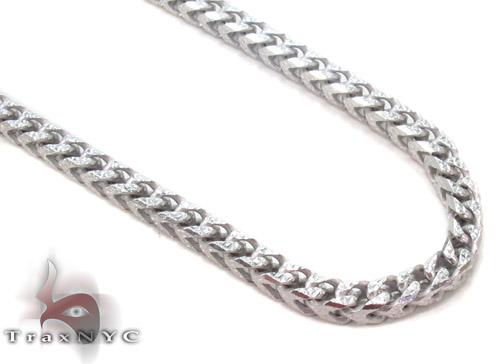 Silver Franco Chain 30 Inches, 4mm, 61.7 Grams Silver