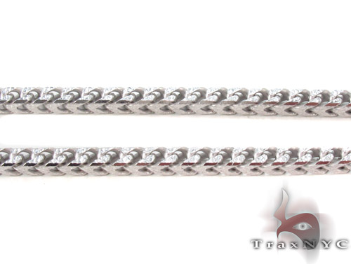 Silver Franco Chain 36 Inches, 4mm, 61.7 Grams Silver