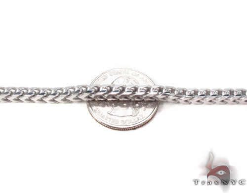 Silver Franco Chain 30 Inches, 4mm, 89.6 Grams Silver