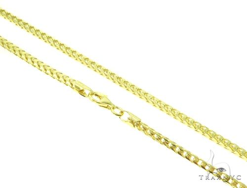 Silver Franco Link Chain 24 Inches 2mm 16.3 Grams 61586 Silver