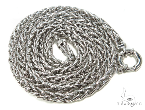 Silver Hollow Chain 26 Inches 5mm 27.9 Grams-40073 Silver