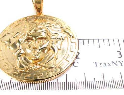 Silver Medusa Head Pendant 33835 Metal