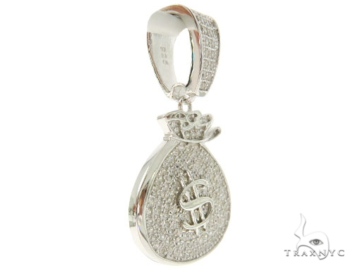 Silver Money Bag Pendant 56999 Metal