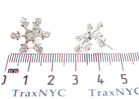 CZ Silver Snow Flake Earrings 31430 Metal