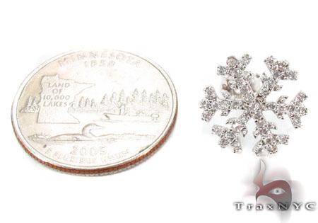 CZ Silver Snow Flake Earrings 31431 Metal