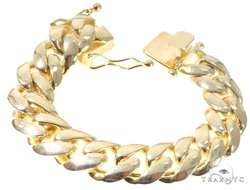 Silver Solid Miami Cuban Link Bracelet 8.75 Inches 17mm 140.0 Grams 64081 Silver