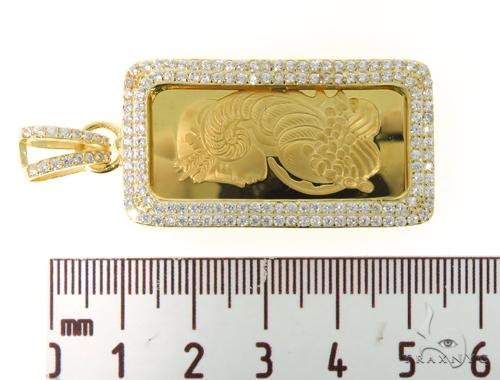 Silver Suisse Bar Pendant 48952 Metal