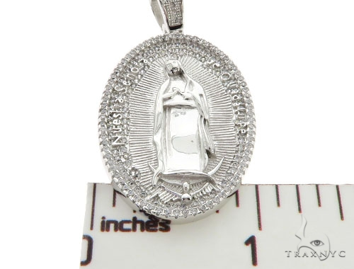 Silver Virgin Mary Pendant 57022 Metal