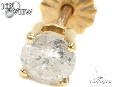 Single Prong Diamond  Earring Stud 63556 Stone