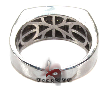 Slim Mens Silver Prong Ring Metal