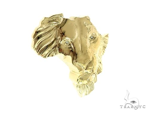 Small African Lion Face Pendant  66348 Metal