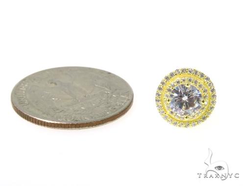 Small CZ Sterling Silver Earrings 48920 Metal