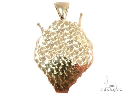 Small Diamond Lion Head Pendant Metal