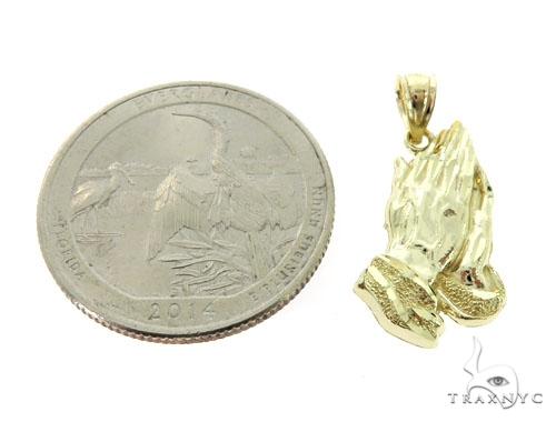 Small Golden Prayer Pendant 3 Metal