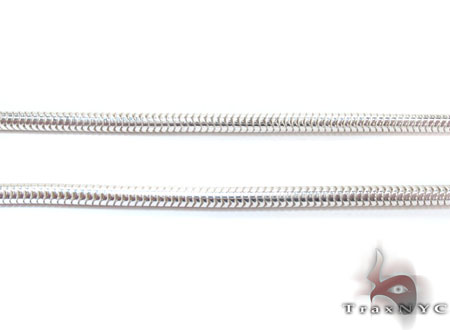 Snake Silver Chain 24 Inches 3mm 16.6 Grams Silver