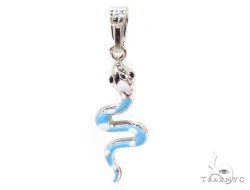 Snake Silver Pendant 36368 Metal