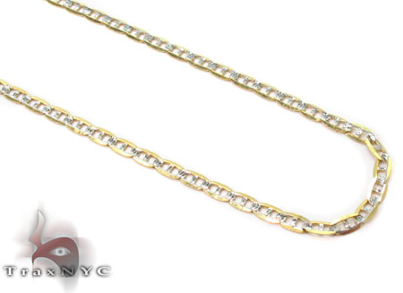 Solid Mariner Diamond Cut Chain 24 Inches 2mm 1.36 Grams Gold