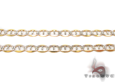 Solid Mariner Diamond Cut Chain 24 Inches 3mm 3.53 Grams Gold
