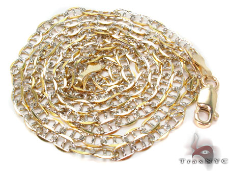 Solid Mariner Diamond Cut Chain 24 Inches 3mm 4.66 Grams Gold