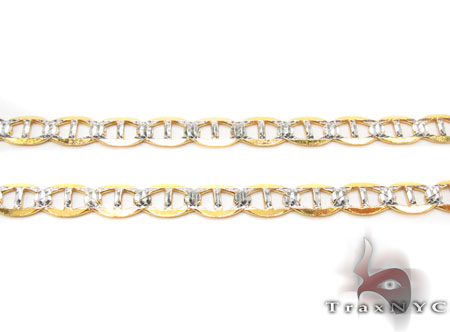Solid Mariner Diamond Cut Chain 26 Inches 4.5mm 8.6 Grams Gold