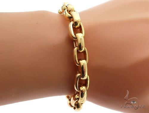 Solid Cable Link Bracelet with Custom Diamond Lock 64124 Diamond