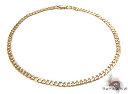 Solid Cuban Bracelet 8 Inches 3mm 2.0 Grams Gold