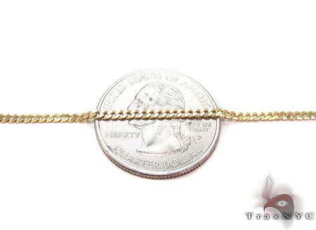 Solid Cuban Chain 18 Inches 2mm 3.2 Grams Gold