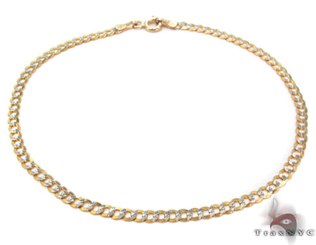 Solid Cuban Diamond Cut Bracelet 8 Inches 2mm 1.3 Grams Gold