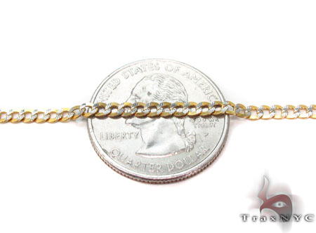 Solid Cuban Diamond Cut Bracelet 8 Inches 3mm 2.0 Grams Gold