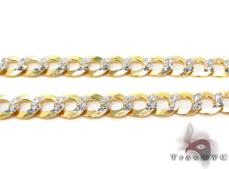 Solid Cuban Diamond Cut Chain 22 Inches 6mm 17.3 Grams Gold