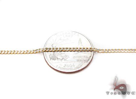 Solid Cuban Diamond Cut Chain 24 Inches 2 mm 3.6 Grams Gold