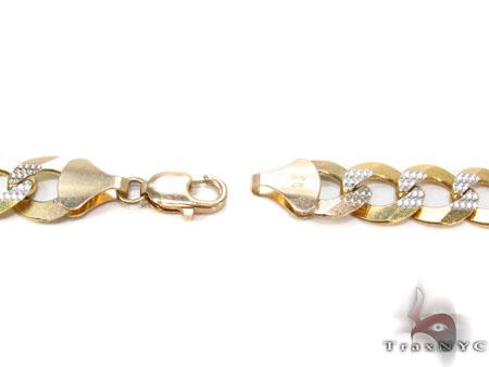 Solid Cuban Diamond Cut Chain 26 Inches 12mm 68.6 Grams Gold