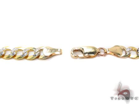 Hollow Cuban Diamond Cut Chain 28 Inches 6mm 22.1 Grams Gold