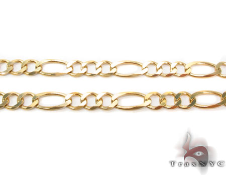 Solid Figaro Chain 28 Inches 6mm 21.18 Grams Gold