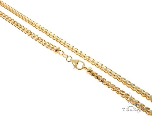 Solid Franco Link Chain 28 Inches 5mm 68.5 Grams Gold