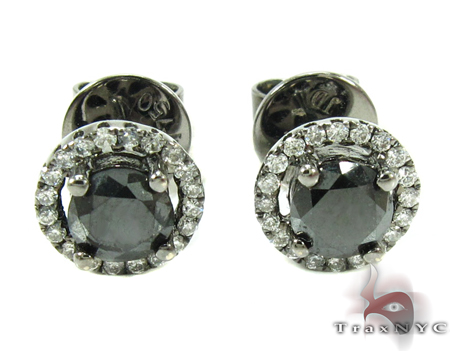 Solitaire Black Diamond Earrings Style