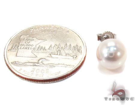 South Sea White Pearl Earrings 27193 Stone